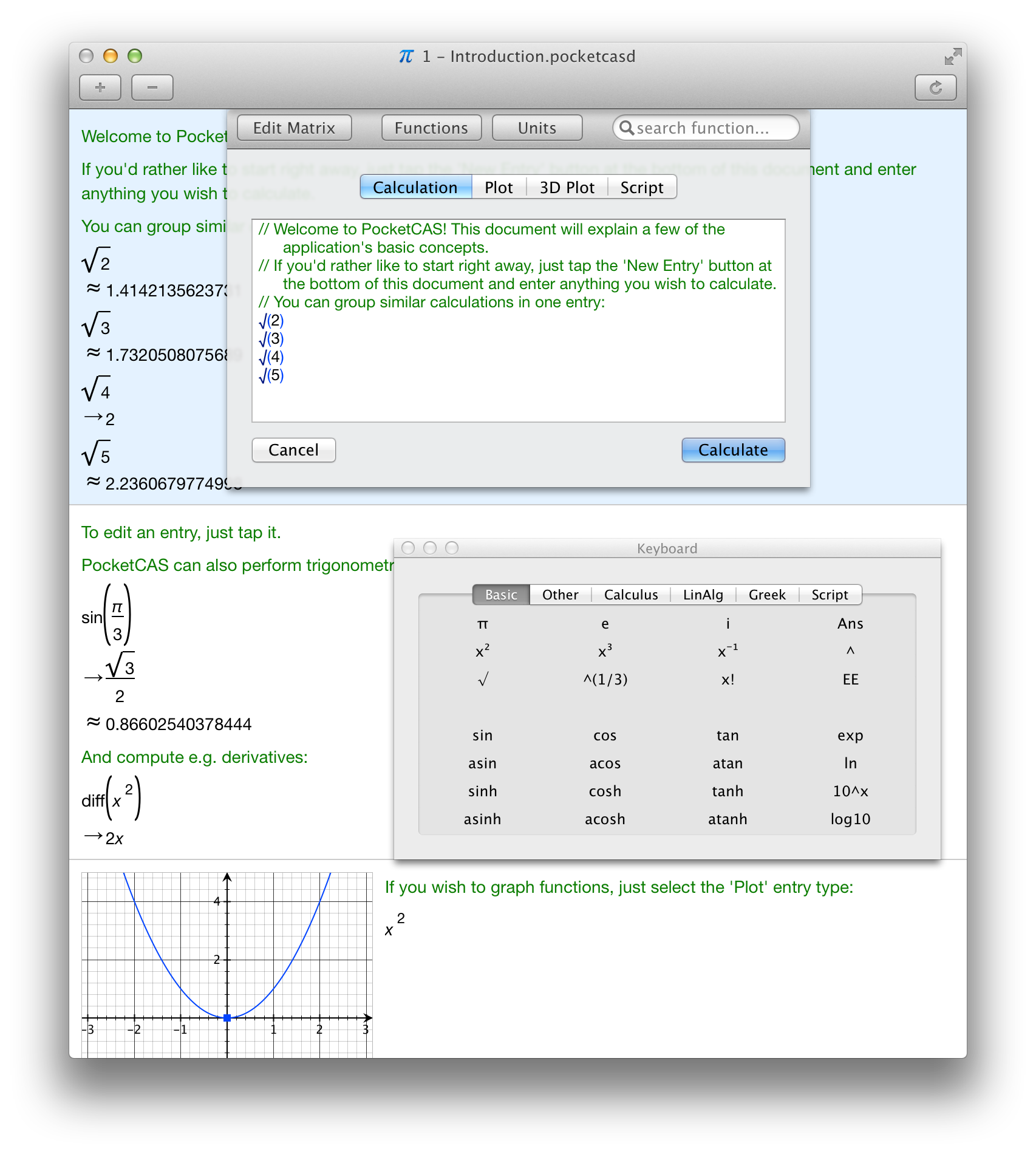 PocketCAS - Algebra and Graphing Calculator for iPhone, iPad