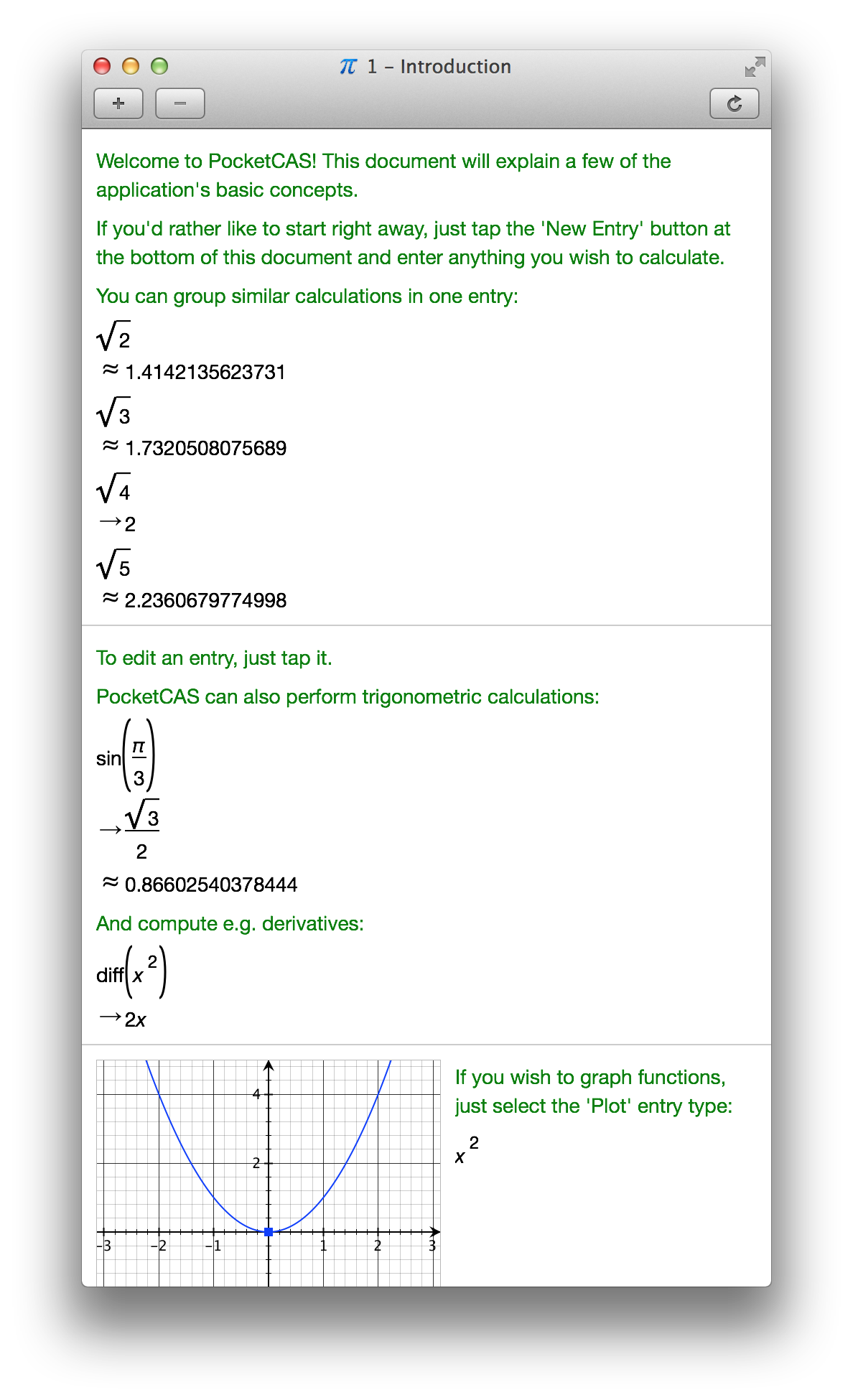 PocketCAS - Algebra and Graphing Calculator for iPhone, iPad and Mac ...